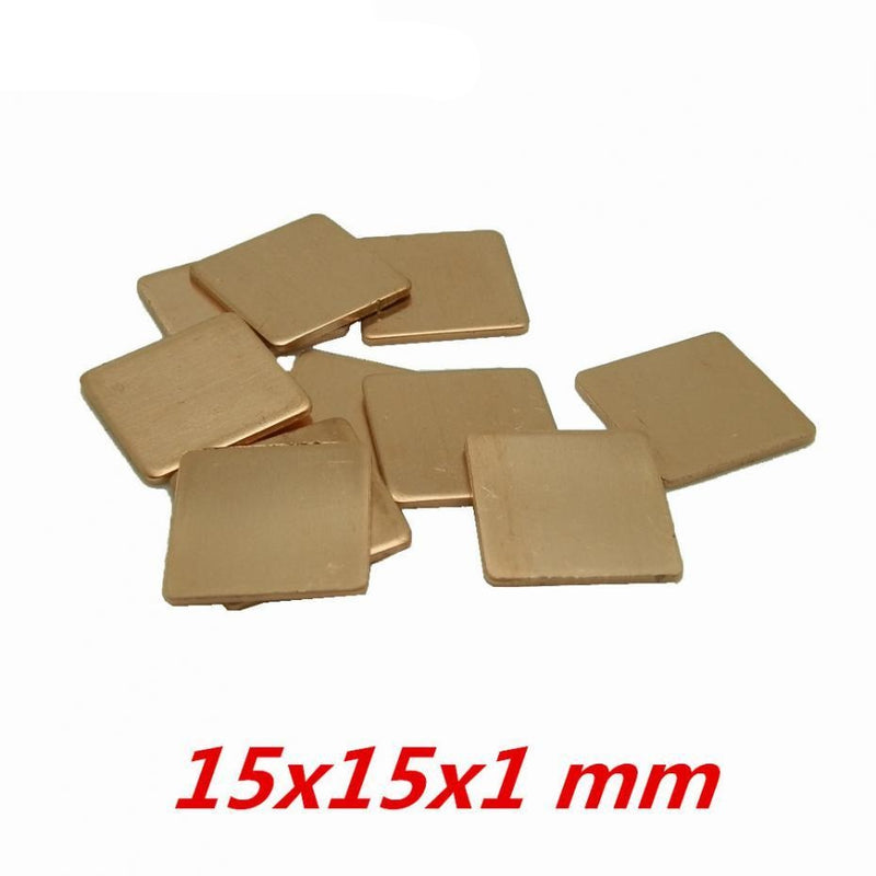 15x15x1 mm DIY Copper Heatsink - Shop For Gamers
