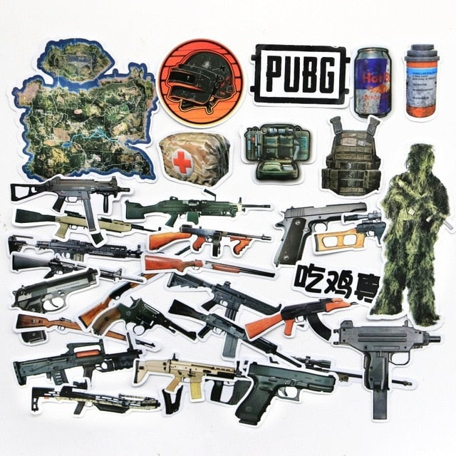PUBG Game Stickers - Shop For Gamers