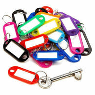 30 PCS Plastic ID Key Tags Key Chains - Shop For Gamers