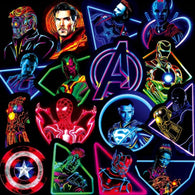Neon Marvel Super Heroes Stickers - Shop For Gamers