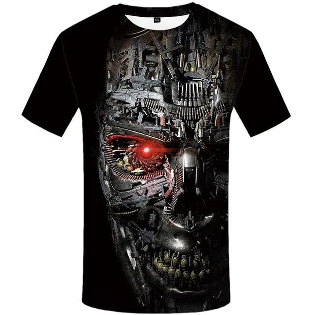 Terminator Skull T-Shirt - Shop For Gamers