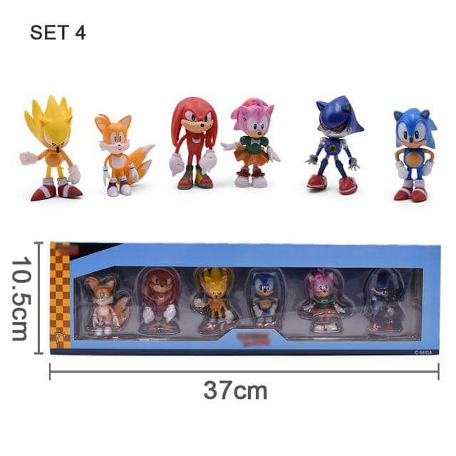 7 Characters Sonic PVC Action Figures - Shop For Gamers
