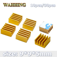 9*9*5mm Golden Computer Cooler Radiator Aluminum Heatsink - Shop For Gamers