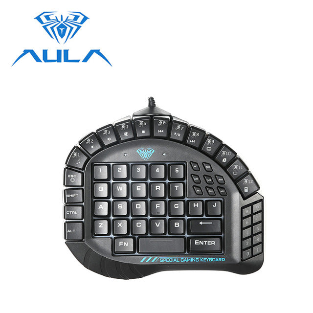 AULA USB Wired Single Hand Keyboard - Shop For Gamers