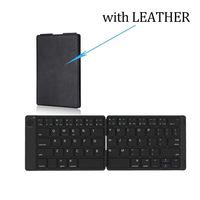 AVATTO Soft Leather Portable Wireless Folding Mini Keyboard - Shop For Gamers
