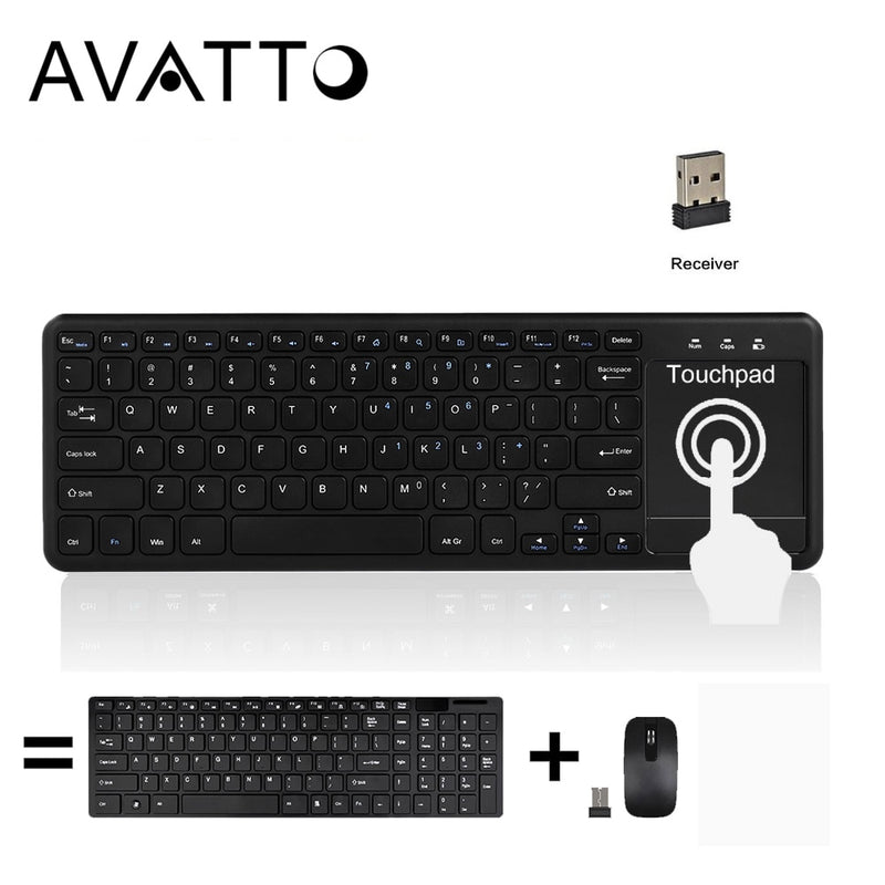 AVATTO T18 Super Slim 2.4G Wireless Keyboard - Shop For Gamers