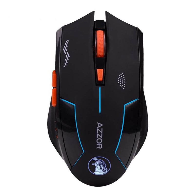 AZZOR Cantelopes Dark Silent 2400 DPI Wireless Mouse - Shop For Gamers