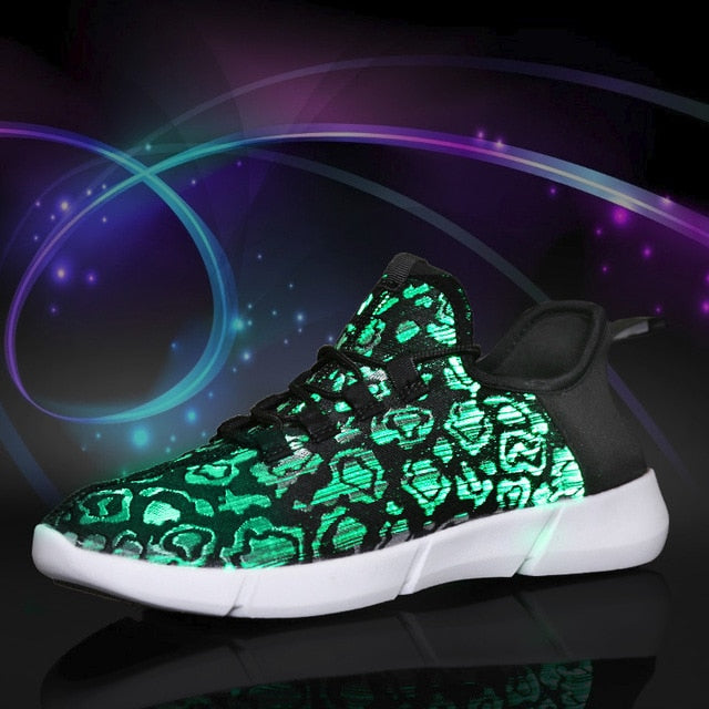 Light-up Luminous Fiber Optic Shoes - Shop For Gamers
