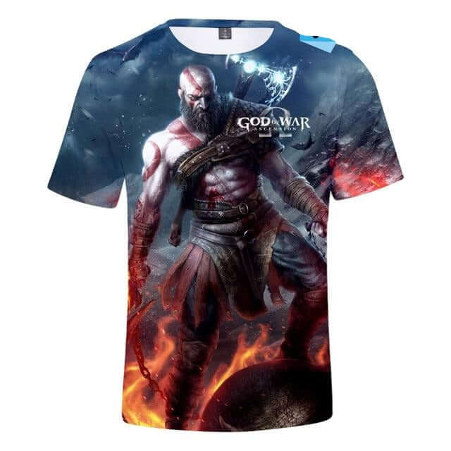 BTS God Of War Game 3D T-Shirt - Shop For Gamers