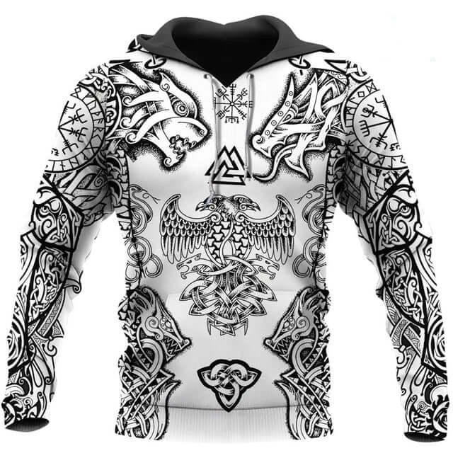 Vikings Tattoo 3D Printed Hoodie - Shop For Gamers