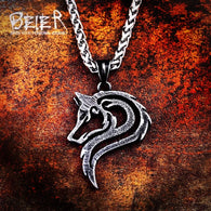 Stainless Steel Viking Wolf Necklace - Shop For Gamers