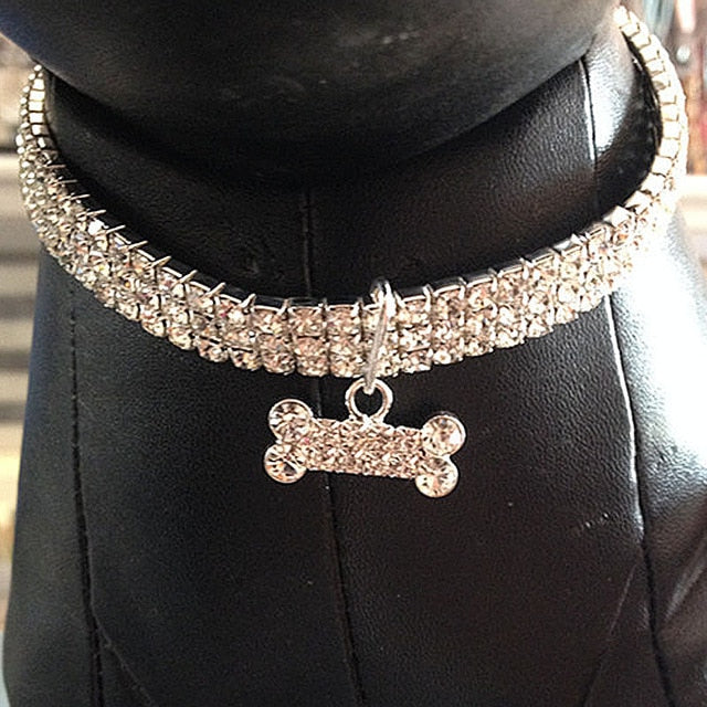 Bling Rhinestone Dog Collar - Shop For Gamers