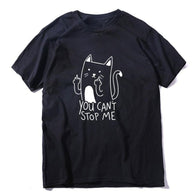 Funny Cat Print T-Shirt - Shop For Gamers