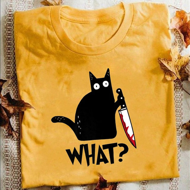Cat What T-Shirt - Shop For Gamers