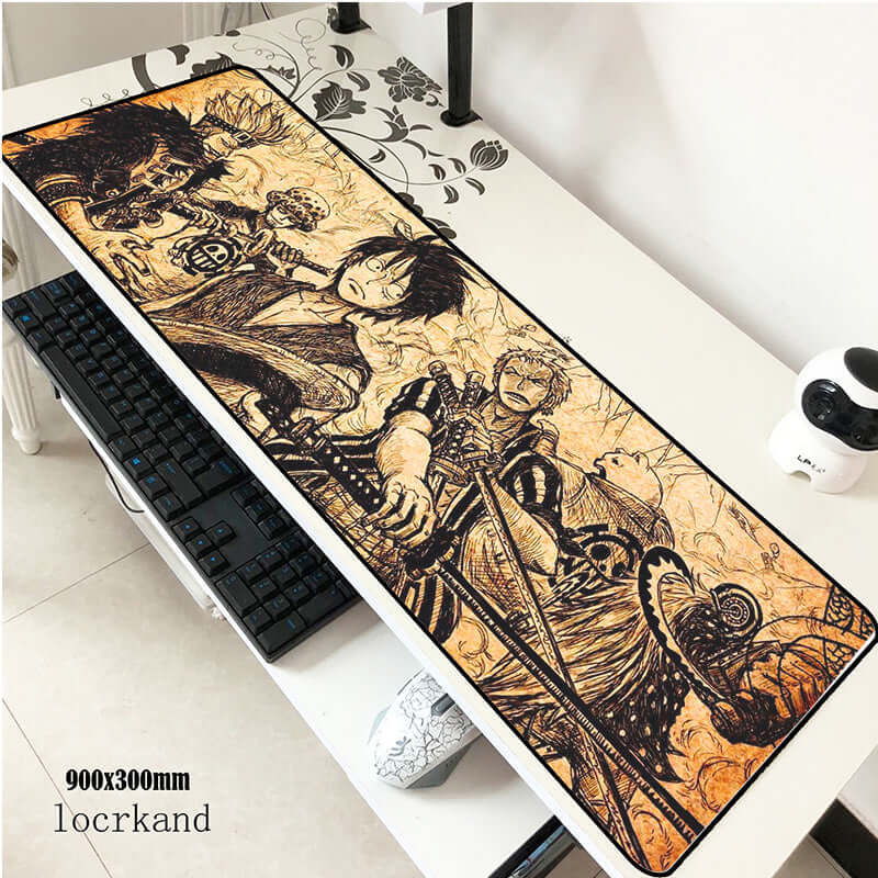One Piece Anime 900x300x2mm Mouse Pad - Shop For Gamers