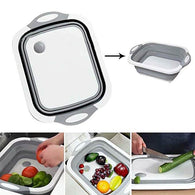 Collapsible Dish Tub&Cutting Board With Draining Plug - Shop For Gamers