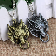 Final Fantasy Wolf Head Pendant Necklace - Shop For Gamers