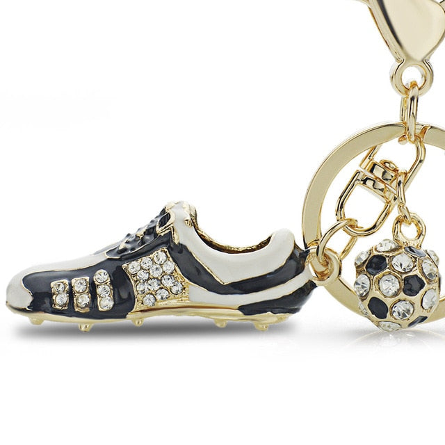 Crystal Football Soccer Shoes Key Chains - Shop For Gamers