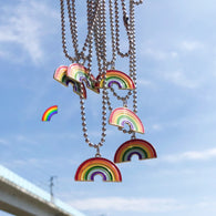 Cute Colorful Rainbow Pendant Necklace - Shop For Gamers