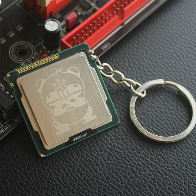 Laser Engraved CPU Keychain - Shop For Gamers