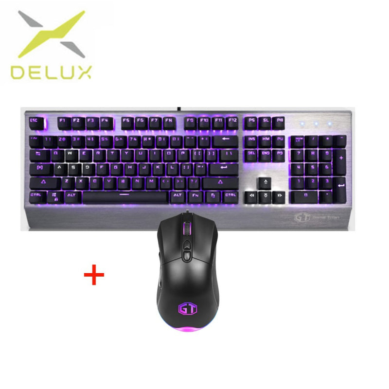 Delux KM02 Mini Keyboard & Mouse Combo - Shop For Gamers