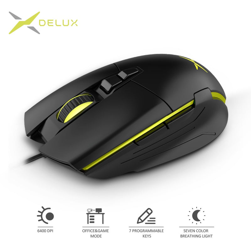Delux M522 6400 DPI Gaming Mouse - Shop For Gamers