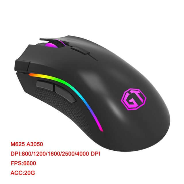 Delux M625 RGB 12000 DPI Backlight Gaming Mouse - Shop For Gamers
