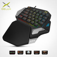 Delux T9X Single-handed Mechanical Gaming Keypad - Shop For Gamers
