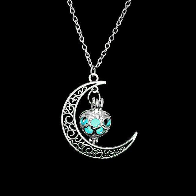 Moon Glowing Pendant Necklace - Shop For Gamers