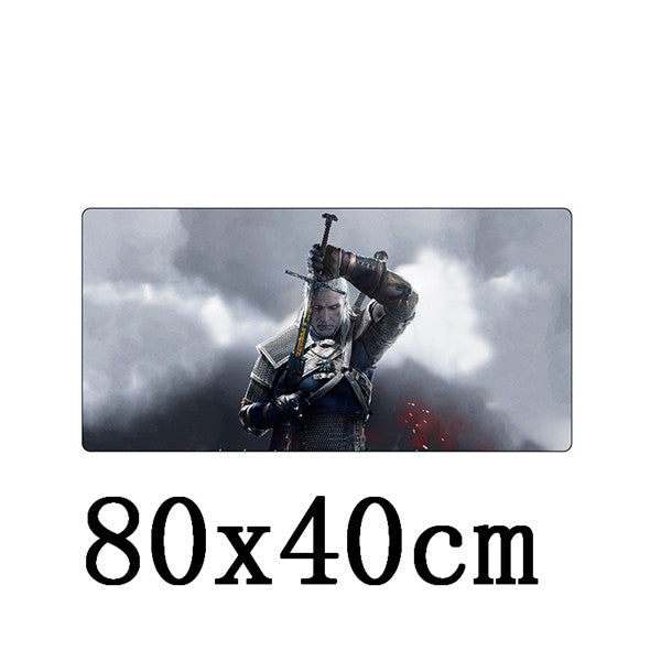 The Witcher Wild Hunt Geralt of Rivia Large Size Table Soft Mousepad - Shop For Gamers