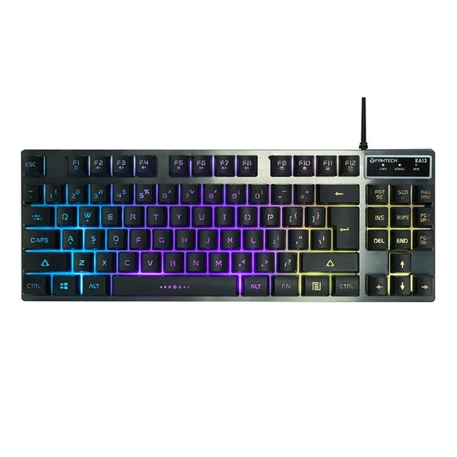 Fantech K613 Professional USB Keyboard 87-Key - Shop For Gamers
