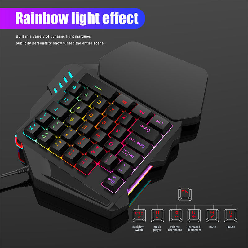 One Handed Keyboard Mechanical Gaming Keyboard - Shop For Gamers