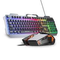 V680B Wired Backlit Mechanical Gaming Keyboard and Mouse - Shop For Gamers