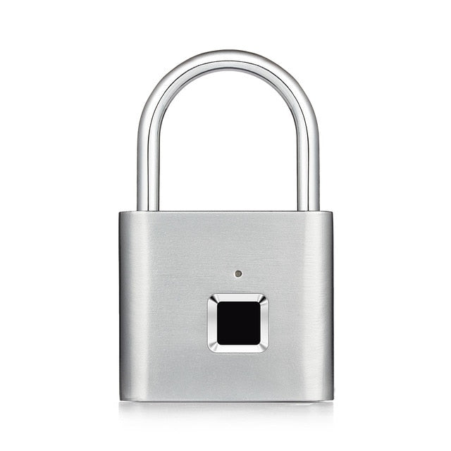 Keyless Fingerprint Smart Padlock - Shop For Gamers