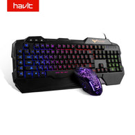 HAVIT HV-KB558CM LED Backlight Gaming Keyboard & Mouse - Shop For Gamers
