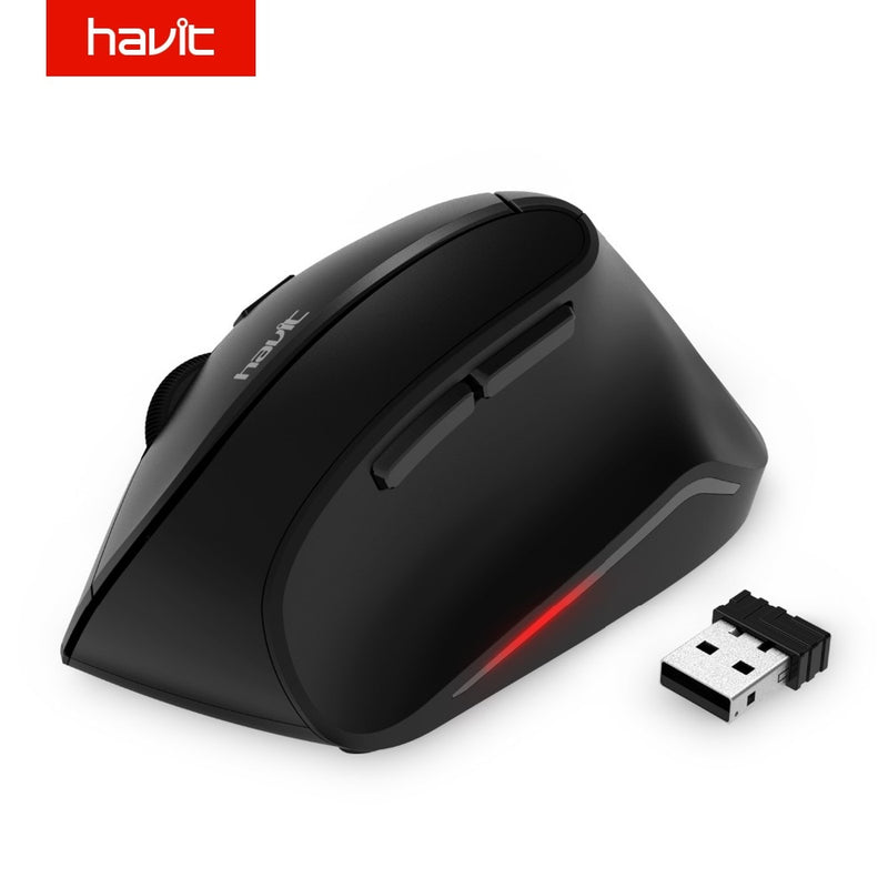 HAVIT MS55GT Vertical Optical Wireless Mouse - Shop For Gamers