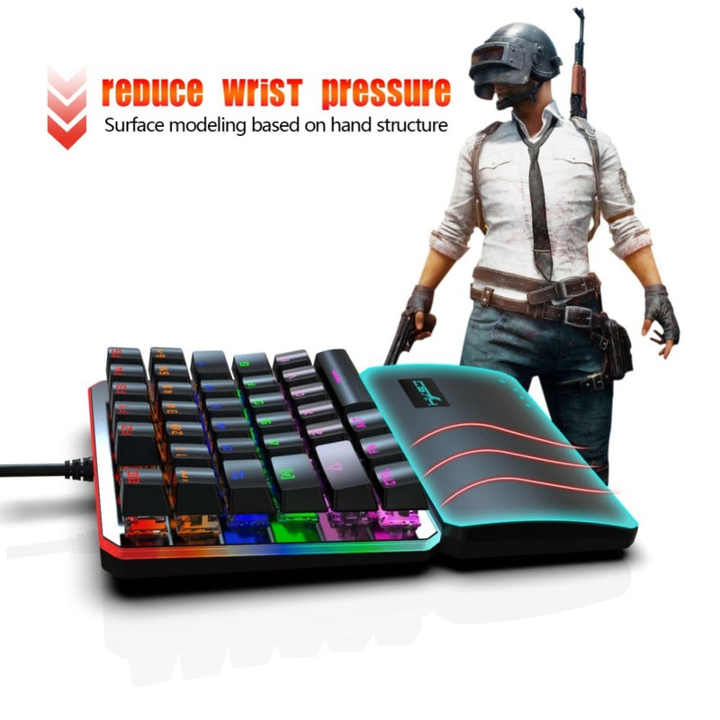 HXSJ V200 One Hand Mechanical Gaming Keyboard - Shop For Gamers