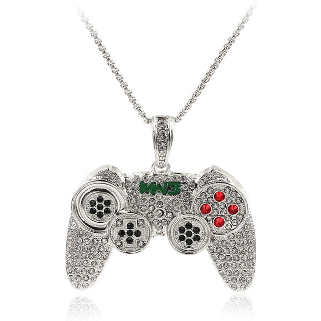 Full Crystal Game Handle Necklace - Shop For Gamers