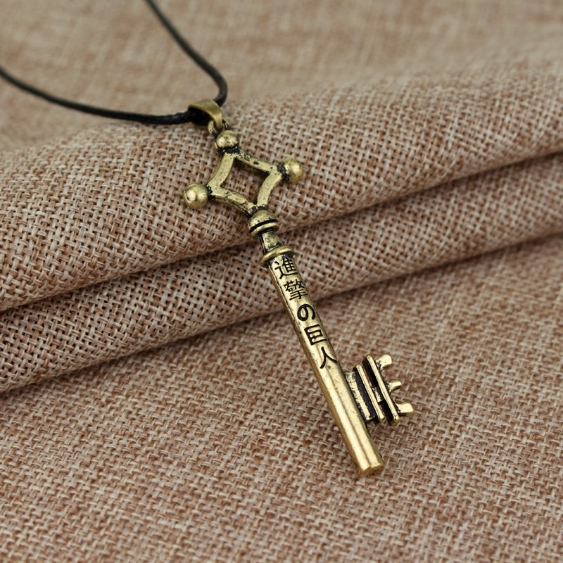 Attack on Titan Metal Key Keychain Pendant Necklace - Shop For Gamers