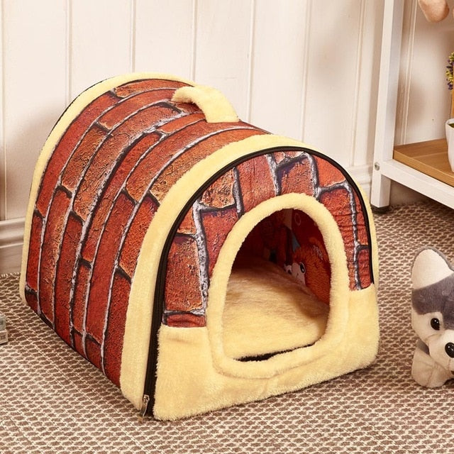 Dog House Kennel Nest With Mat Foldable Bed - Shop For Gamers