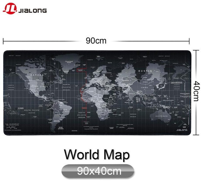 World Map Pattern Mouse Pad - Shop For Gamers