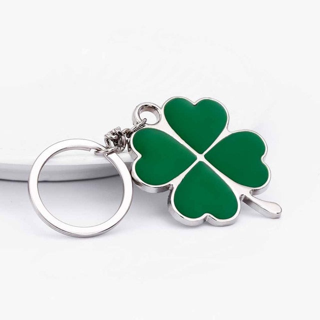 Stainless High Quality Green Leaf Key Chain - Shop For Gamers