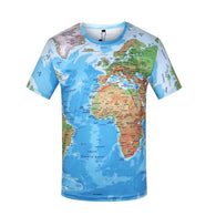 World Map 3D Printed T-Shirt