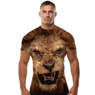 Lion 3D Printed T-Shirt - Shop For Gamers