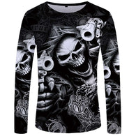 Skeleton Long Sleeve Shirt - Shop For Gamers