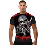 Designer Skull 3D Printed T-Shirt - Shop For Gamers