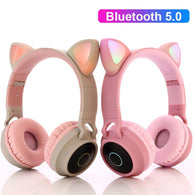 Cute LED Cat Ear Bluetooth Headphones - Shop For Gamers