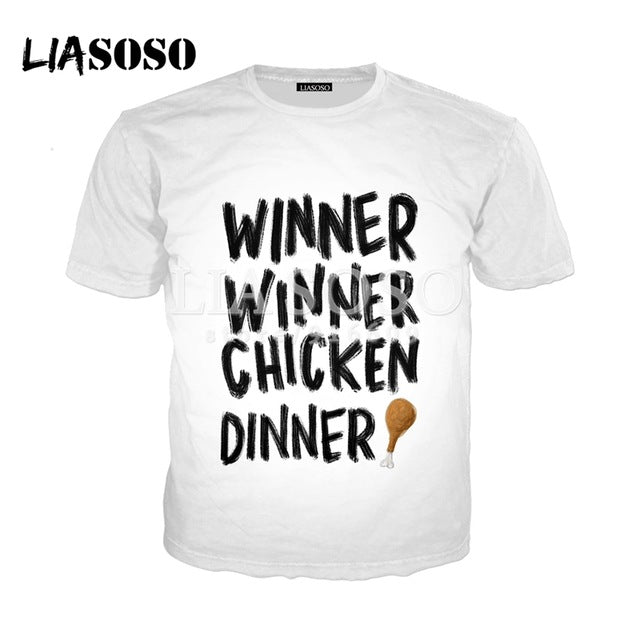 PUBG Winner Winner Chiken Dinner 3D Print T-Shirt - Shop For Gamers