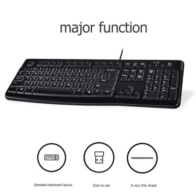 Logitech K120 Ergonomic USB Wired Keyboard - Shop For Gamers