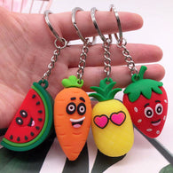 Cute 3D Fruits Keychains - Shop For Gamers